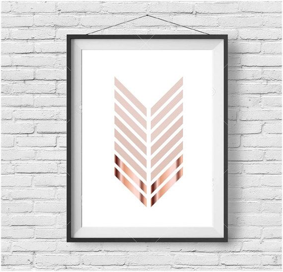 Chevron Print Chevron Art Chevron Poster Minimalist by PrintAvenue