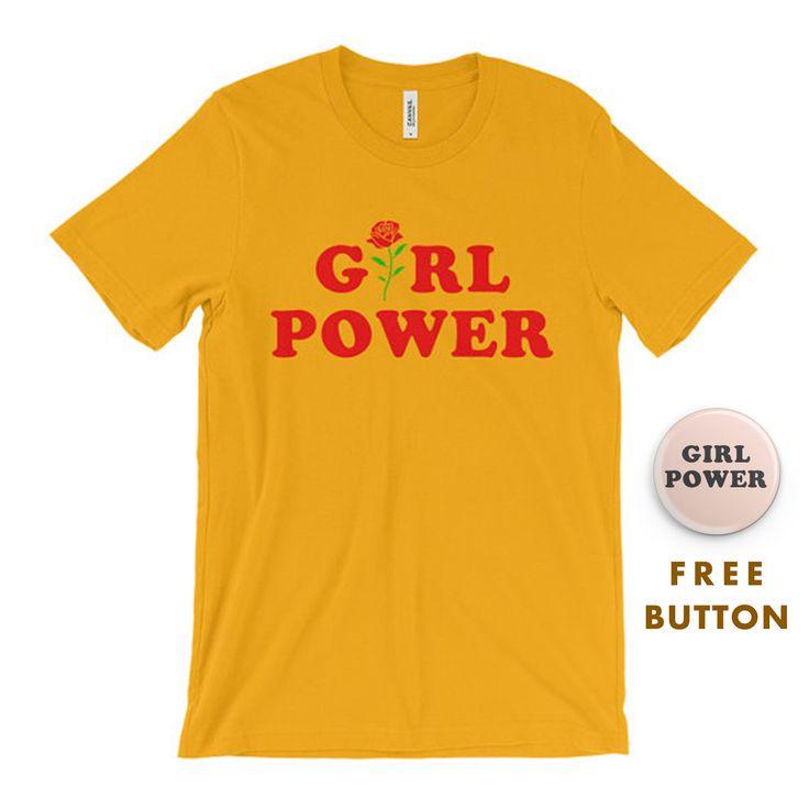 Feminist Shirt - Inspirational Shirt - Feminist T-Shirt - Girl Power - Tumblr Shirt - Hipster Shirt - Flower - Rose All Day - GRL PWR by CupOfTeeStore on Etsy https://www.etsy.com/listing/463531673/feminist-shirt-inspirational-shirt