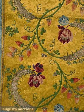 SILK BROCADES & DAMASK, 18TH C