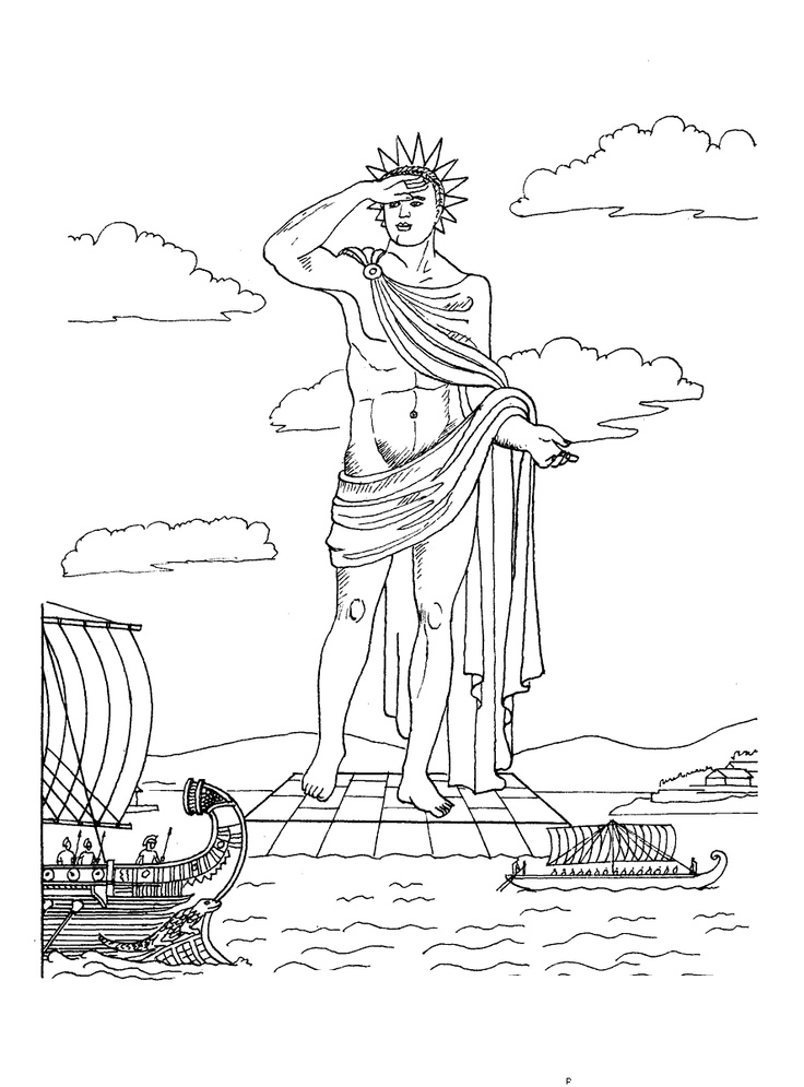 Colossus-of-Rhodes-coloring-page.gif (887×1200) | 1st ...