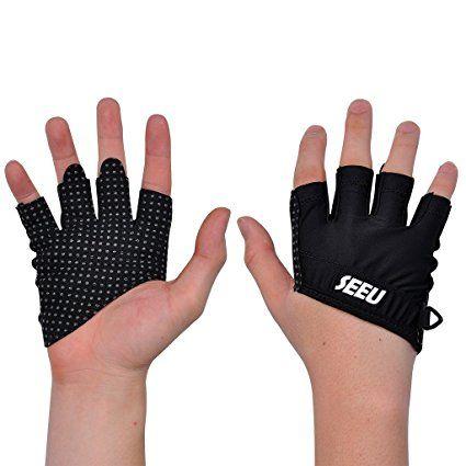 2-Fitness Damen Herren Grips Crossfit Handschuhe Trainingshandschuhe für Gewichtheben, Krafttraining, Workout und Bodybuilding Small