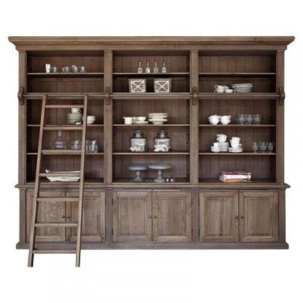 bibliothek schrank 3er washington iche grau landhausm bel pinterest bibliothek. Black Bedroom Furniture Sets. Home Design Ideas