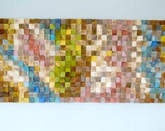 Wood Wall Art geometric wood art mid century by ArtGlamourSligo