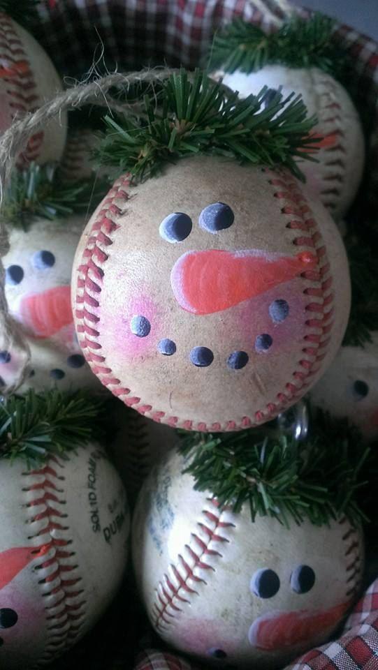 Liczba pomysłów na temat: Baseball Christmas Ornaments na ...