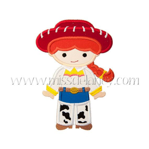 Toy Cowgirl Applique Design by MissDelaneyShop on Etsy