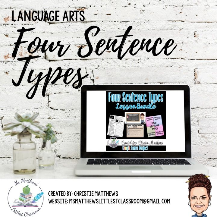 Looking for an engaging way to teach the four sentence types: explainer video, Bits & Bobs worksheet, Digital Escape Room and Interactive Notebook foldable.
