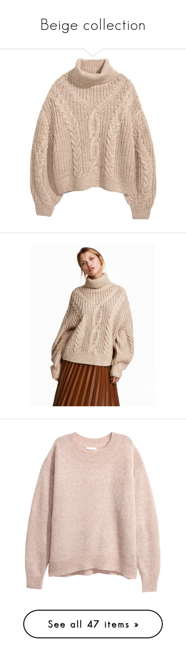 """""""Beige collection"""" by egorova-tatiana on Polyvore featuring tops, sweaters, turtle neck top, pink turtleneck sweaters, pink sweater, turtleneck top, short-sleeve turtleneck sweaters, polo neck sweater, sleeve top and beige turtleneck"""