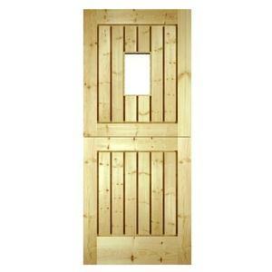 Wickes Stable External Pine Door Glazed 2032x813mm