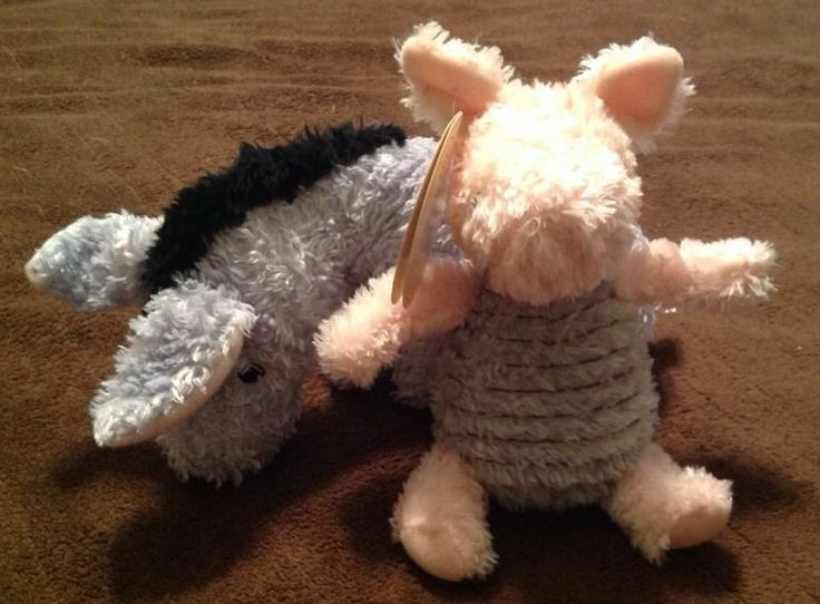 Classic Pooh Plush Eeyore & Piglet Lovey The Pooh Bear And His Things Target