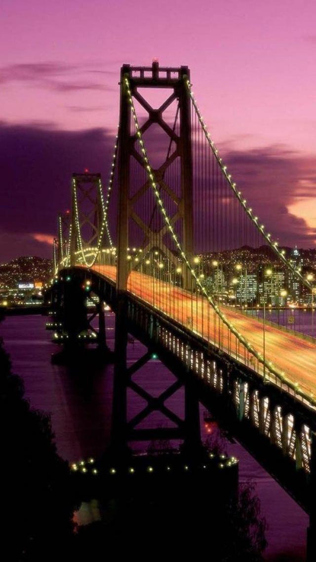 Sunset, San Francisco Bay Bridge, San Francisco