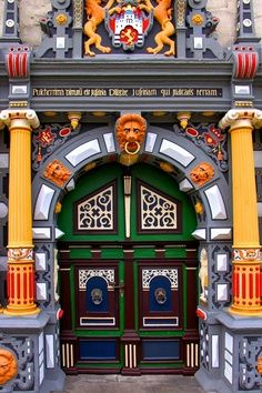 City Hall Door, Hann. Muenden, Lower Saxony, Germany~