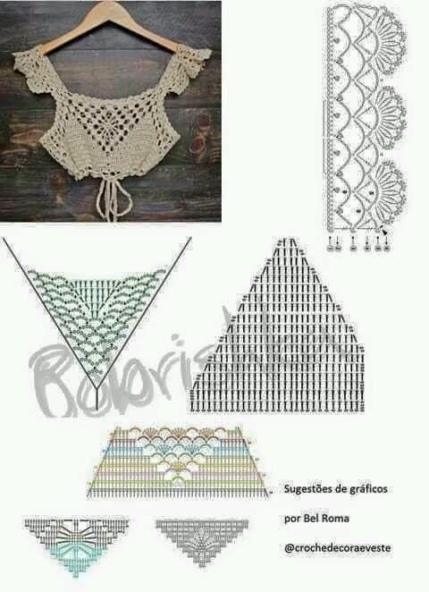 Tops en crochet (Patrones) | Crochet tops | Pinterest | Crochet ...