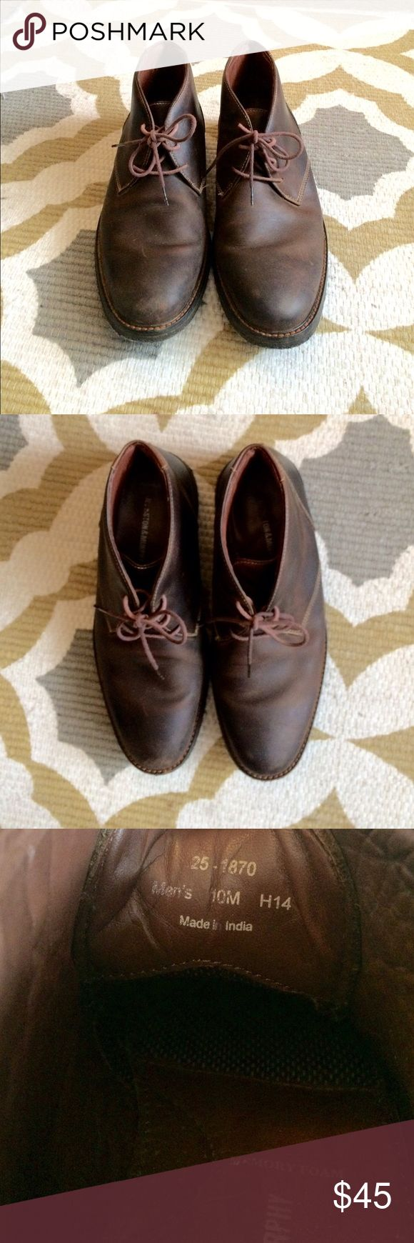Mens Johnston and Murphy Boots! These boots are in great shape and are made in America. They retail at $150 and are very lightly worn! Let me know if you have any questions! :) Johnston & Murphy Shoes Boots
