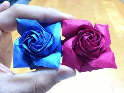 達人折りのバラの折り紙 11 Only one origami rose 11