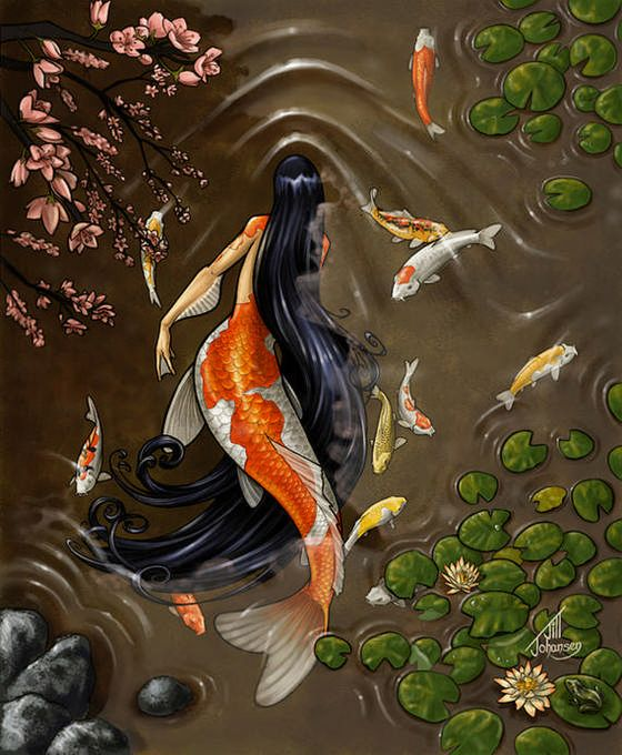 Coy fish Mermaid.... interesting concept here. idk how i feel about it.