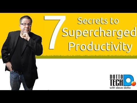 7 Secrets to Supercharge Your Productivity - YouTube