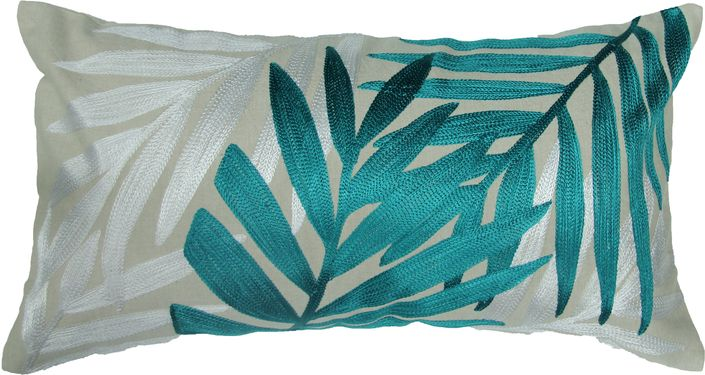 The Naya Leaves Toss Cushion - Emerald from Urban Barn is a unique home decor item. Urban Barn carries a variety of Pillows and other  products furnishings.