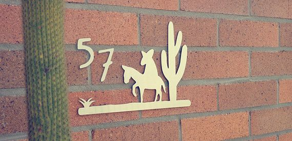 Brushed Steel Vintage Design Sleepy Mexican House Number Plaque on Etsy, $49.00 AUD