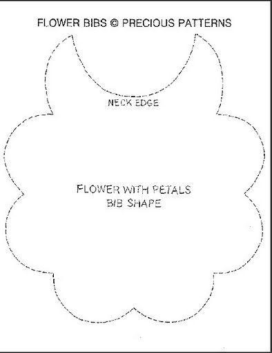 Flower #Bibs Pattern for the little Baby girls!