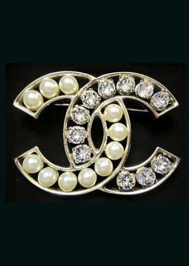 Chanel ~ Crystals Pearl Brooch, 2014