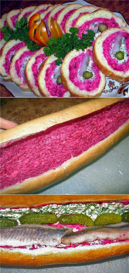 Селедка под шубой рулетом: оригинально и вкусно! | ЕДИМ ДОМА:Нарезка, бутерброды, закуски | Постила