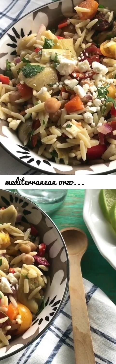 mediterranean orzo salad | orzo salad recipe | salad recipes... Tags: mediterranean orzo salad, mediterranean orzo salad recipe, the pioneer women recipe, orzo salad, mediterranean salad, mediterranean salad recipe, healthy salad recipe, lunch box salad recipe, dinner salad recipe, easy salad recipe, salad recipe with spinach and feta cheese, salad recipe with spinach and feta cheese