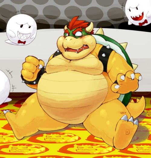 Fat Bowser By Á�わの Mario Bowser Amp Co Pinterest Am