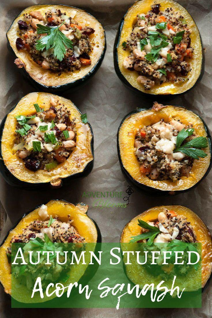 Autumn Stuffed Acorn Squash Recipe Squash Recipes Acorn