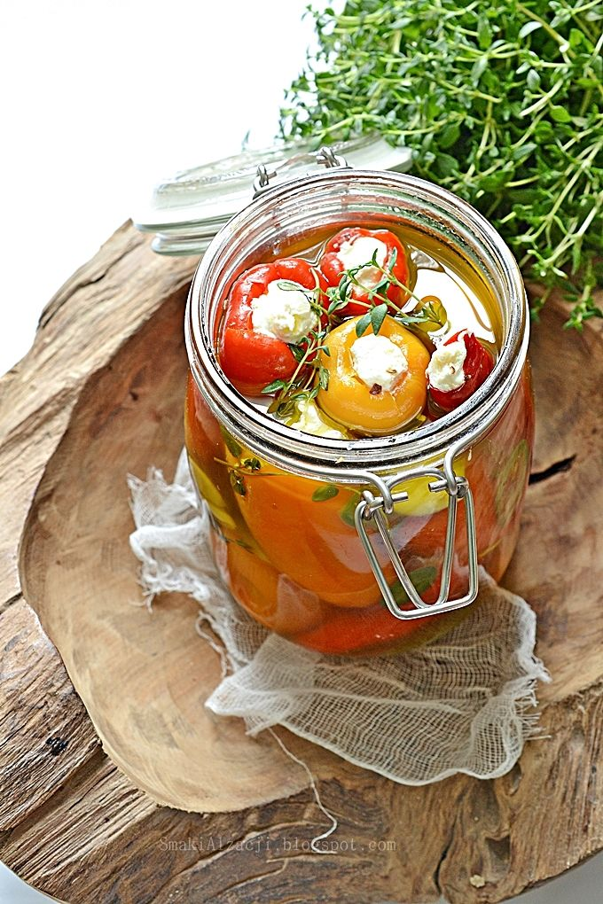 Smaki Alzacji : Faszerowane papryczki serem feta