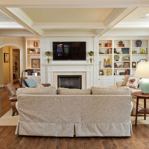 Off Center Fireplace Design Ideas, Pictures, Remodel and Decor