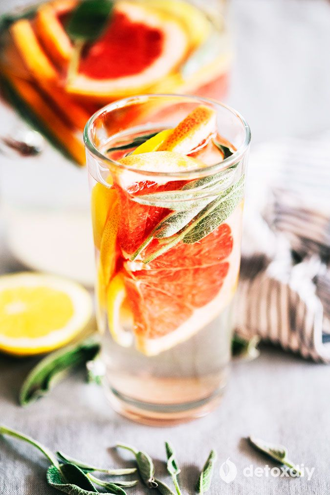I'm getting thirsty just thinking about our Grapefruit, Lemon, and Sage Infused Water. Hydration and detoxification has never been this tasty!