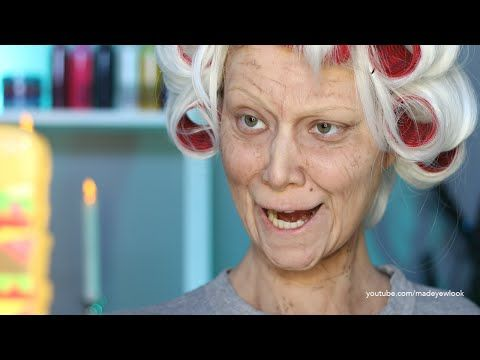 Old Lady Lex (Old Age) Makeup Tutorial (NO PROSTHETICS/NO LATEX) - YouTube-- holy mother of crap, this girl is talented!