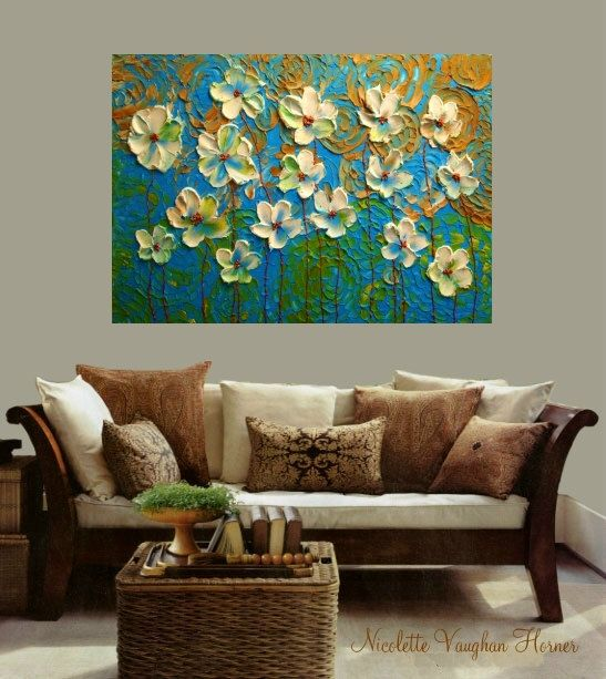 Original Oil canvas abstract Landscape Modern 36
