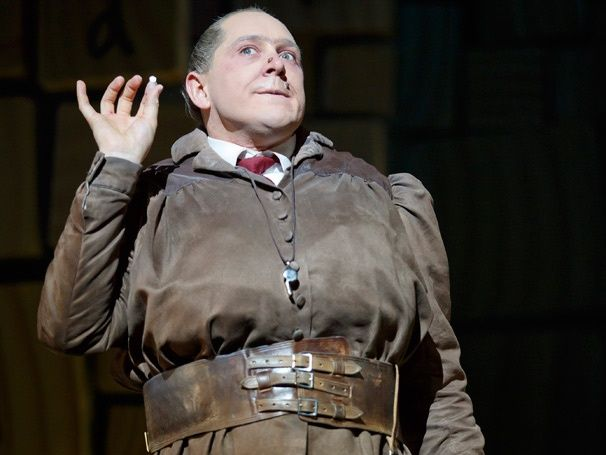 Bertie Carvel as Miss Trunchbull in Matilda. Costume design by Rob Howell.