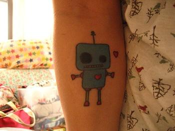 robot tattoo!!