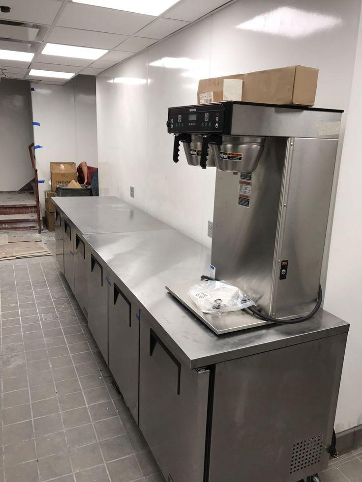 A Bunn Coffee maker sits atop an undercounter refrigeration unit  https://www.culinarydepotinc.com/brands/bunn-o-matic  https://www.culinarydepotinc.com/commercial-undercounter-refrigeration  #CulinaryDepot #BunnOMatic #CommercialCoffeeMaker #Kitchen #RestaurantEquipment #Refrigeration #Chef