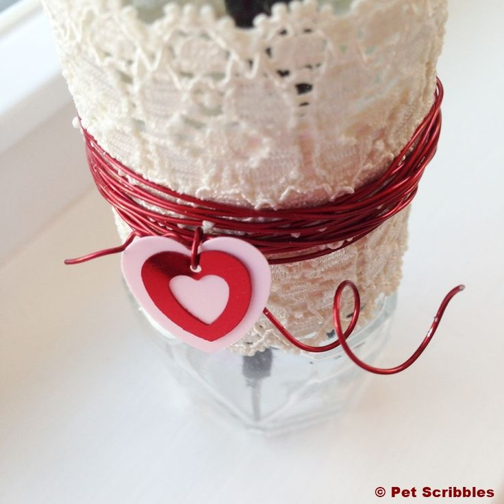 How-to: Valentine's Day Bud Vase from an upcycled spice jar!