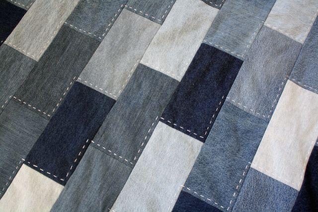 denim quilt with hand stitching                                                                                                                                                                                 More