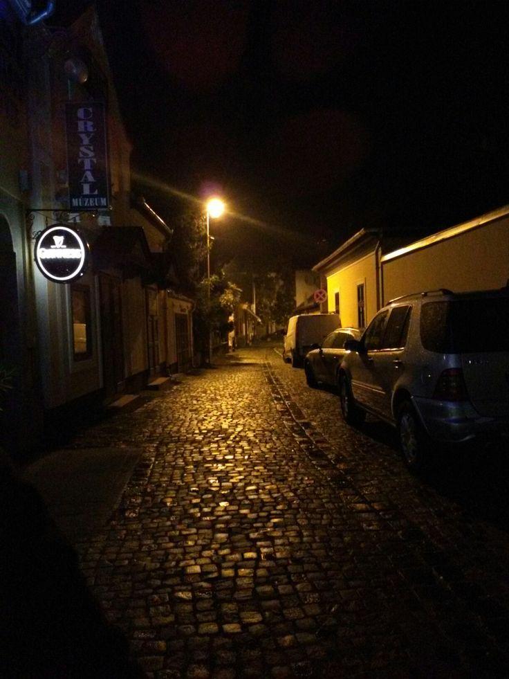 Night walk in the oldtown