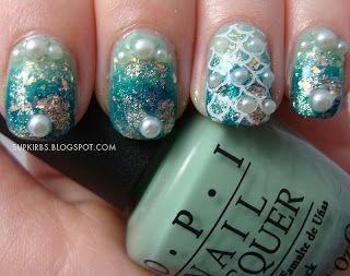 mermaid nail tutorial scale nail art nail polish