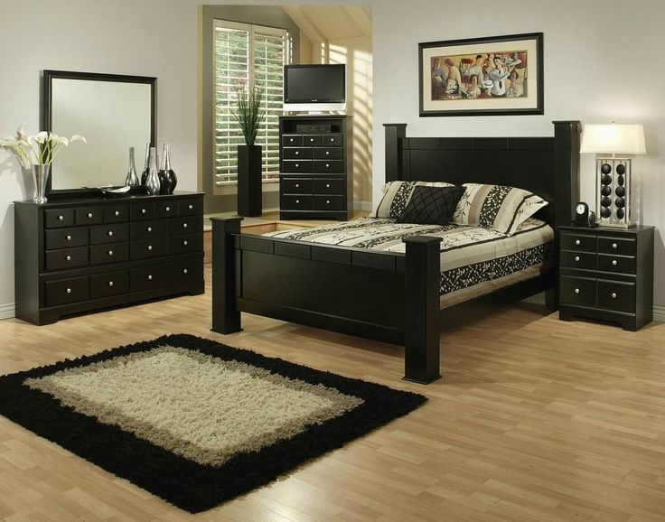 STYLE : 33400 ELENA BLACK FINISH  7 PC BEDROOM SET ALSO AVAILABLE IN CAL  KING