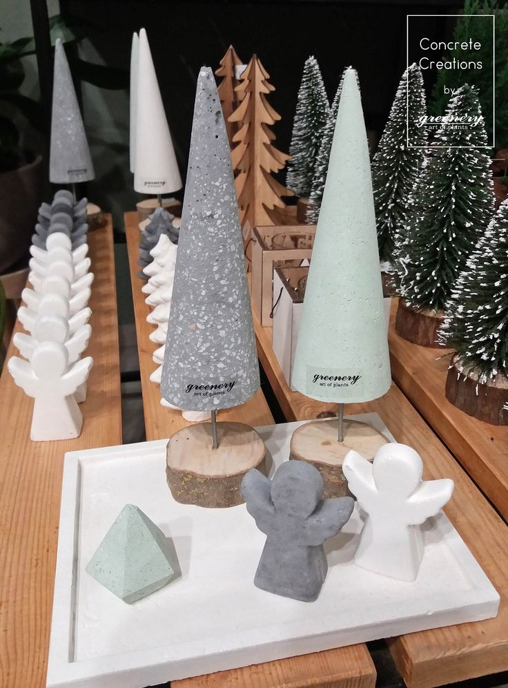 Get ready for Christmas! Concrete creations by greenery  #greenery #concrete #christmas #christmasgifts #tree #christmastree #angel #chania