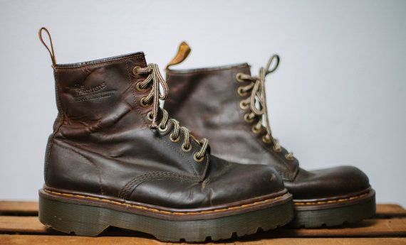 Vintage Doc Marten Men's 8 Eye Brown Leather by ProjectWaverly, $65.00