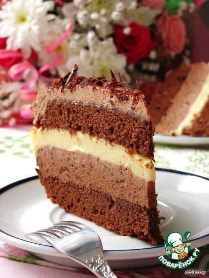 Шоколадно-лимонный торт - кулинарный рецепт