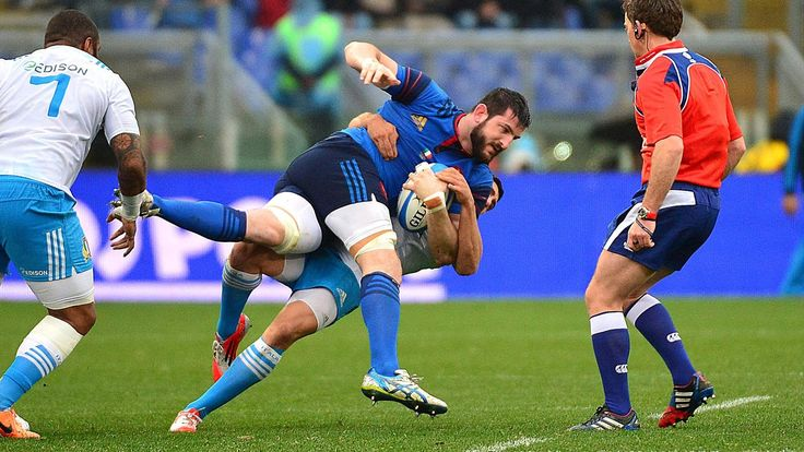 Loann Goujon Italie/France 6nations 2015