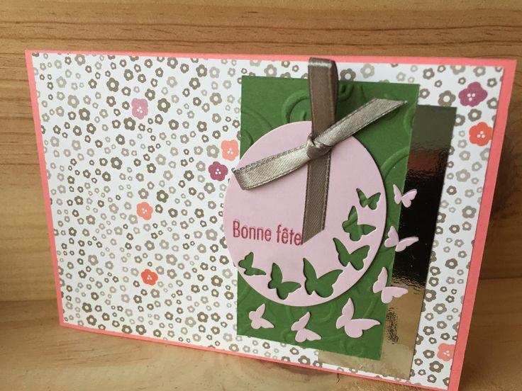 carte fleurie pour la f te des m res cartes par sabandpaper cartes mutation remerciements. Black Bedroom Furniture Sets. Home Design Ideas