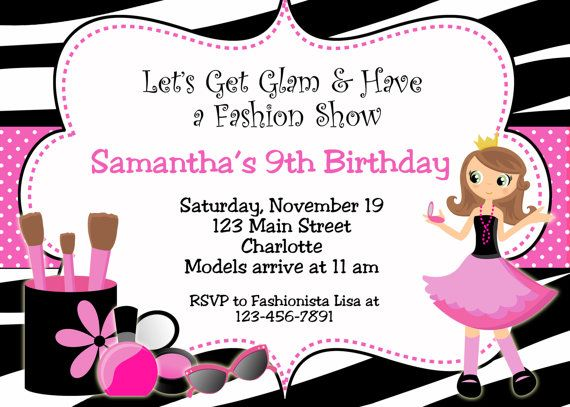 Glamour Party Birthday Invitation  printable by TheButterflyPress, $13.00