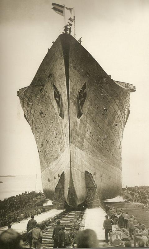 Lancement du Paquebot Normandie '' 29 octobre 1932 ''