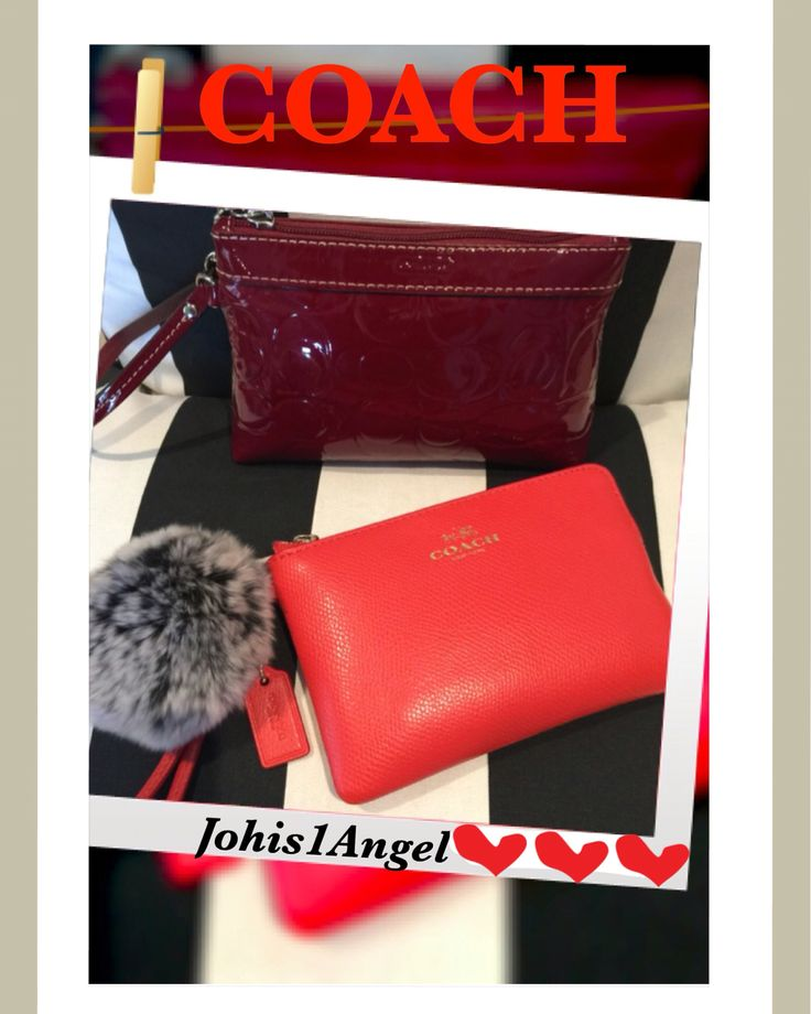 I love my Coach wristlets. The red one,  I use it to carry my basic necessities 👩🏼 and the orange is my wallet 💳 OMG I love it. I can fit my phone, car keys and a 💄if I don't want to carry my purse.  Can't stand wallets anymore, to complicated😁