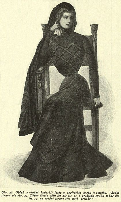 Strój żałobny, 1899   Mourning outfit, 1899
